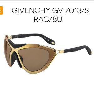 New Givenchy Gv7013 Gold Large Sunglasses